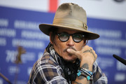 """Johnny Depp is seen athe """"Minamata"""" press conference during the 70th Berlinale International Film Festival Berlin at Grand Hyatt Hotel on February 21, 2020 in Berlin, Germany."""