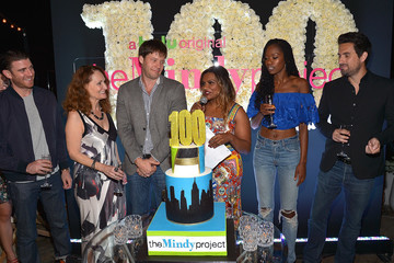 Mindy Kaling Ike Barinholtz 'The Mindy Project' 100th Episode Party