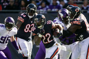 Matt Forte #22 of the Chicago Bears carries the football in the second quarter against the Minnesota Vikings at Soldier Field on November 1, 2015 in Chicago, Illinois.
