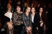 (L-R) Jorge Gonzalez, Alexandra Kamp, Regina Halmich, Tina Ruland and Alexandra Polzin attend the Minx by Eva Lutz show during Mercedes-Benz Fashion Week Autumn/Winter 2014/15 at Brandenburg Gate on January 15, 2014 in Berlin, Germany.
