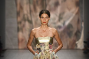 Leyla Mert walks the runway at the Minx by Eva Lutz show during the Mercedes-Benz Fashion Week Spring/Summer 2015 at Erika Hess Eisstadion on July 9, 2014 in Berlin, Germany.