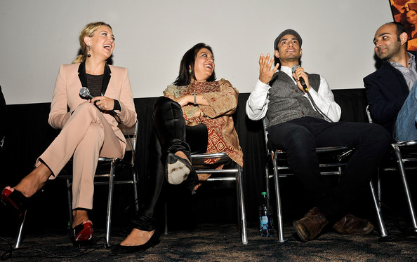 'The Reluctant Fundamentalist' Q&A [the reluctant fundamentalist,event,fashion,human,fun,conversation,performance,sitting,adaptation,photography,convention,mohsin hamid,riz ahmed,kate hudson,mira nair,q a,l-r,big cinemas manhattan,new york indian film festival,screening]