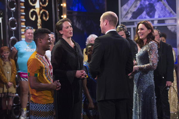 The Duke & Duchess Of Cambridge Attend The Royal Variety Performance [the royal variety performance,event,yellow,performance,ceremony,performing arts,prince william,duchess,stage,place,cambridge,london,united kingdom,theatre,the duke duchess of cambridge]