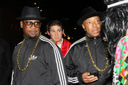 Andrew Harrell (L) and Russell Simmons attend Miranda Kerr's Halloween party at Catch Roof on October 31, 2011 in New York City.