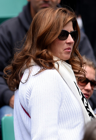 Mirka+Federer+2014+French+Open+Day+One+A