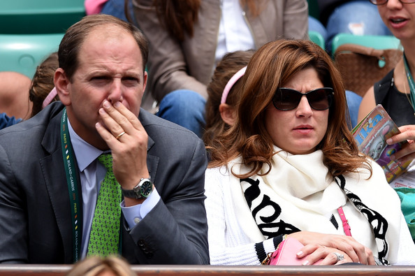 Mirka+Federer+2014+French+Open+Day+One+F