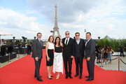 (L-R) Paramount President of Physical Production Lee Rosenthal, Producer Dana Goldberg, Paramount President of Post-Production, Stephanie Ito, WW President of Music & Publishing Randy Spendlove, Executive Producer David Ellison and Brad Carlson attend the Global Premiere of 'Mission: Impossible - Fallout' at Palais de Chaillot on July 12, 2018 in Paris, France.