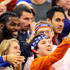 Sharrif Floyd Photos - Sharrif Floyd (left) of the Minnesota Vikings poses with Florida Gators fans during the game against the Mississippi State Bulldogs at the Stephen C. O'Connell Center on January 19, 2016 in Gainesville, Florida. Floyd played football at Florida from 2010-2012. - Mississippi State v Florida