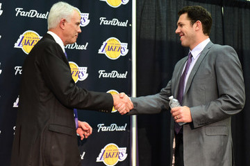 Mitch Kupchak Los Angeles Lakers Introduce Luke Walton