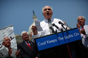 Rep. Mike Kelly (R-PA) speaks at a news conference on the economic ramifications of the Environmental Protection Agency's proposed power plant rules outside the U.S. Capitol July 30, 2014 in Washington, DC. The proposed standards would seek to lower carbon emissions by 30 percent from 2005 levels over the next 15 years.