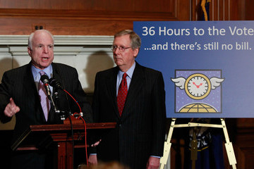 Mitch McConnell Mitch McConnell And John McCain Discuss Health Care Bill