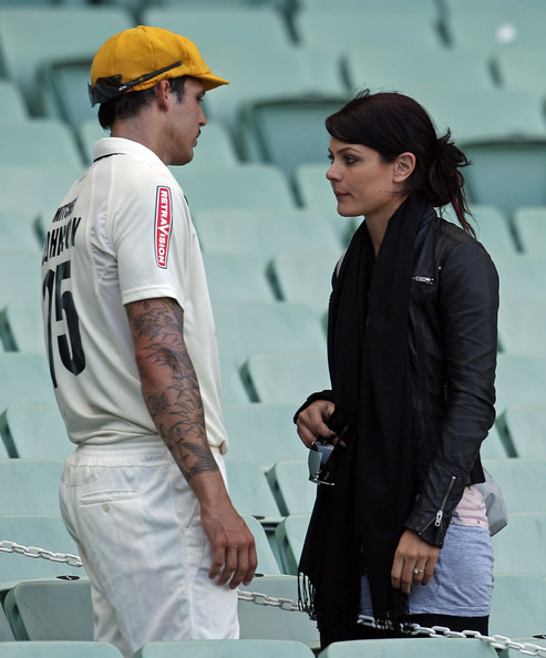 mitchell johnson tattoo. cricketer mitchell johnson