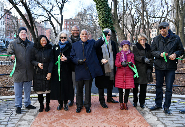 Disney+ And NYC Department Of Parks Install Plaque That Honors Bronze Statue Of The Husky Named Togo In Seward Park