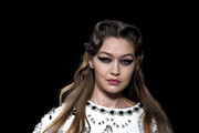 (EDITORIAL USE ONLY) Gigi Hadid walks the runway during the Miu Miu as part of the Paris Fashion Week Womenswear Fall/Winter 2020/2021 on March 03, 2020 in Paris, France.