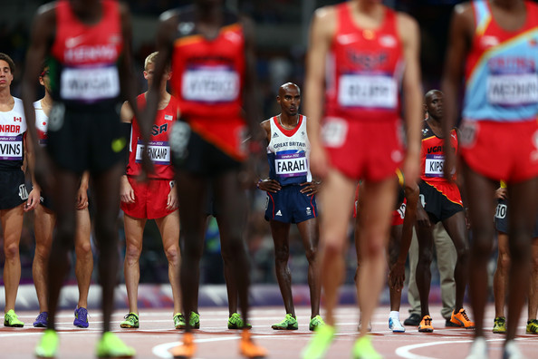Mo Farah Mohamed Farah of Great Britain prepares to compete in Men's 10,000m Final on Day 8 of the London 2012 Olympic Games at Olympic Stadium on August 4, 2012 in London, England.