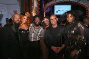 (L-R) Jillian Hervey, Emil Wilbekin, and Tai Beauchamp attend the MoCADA 3rd Annual Masquerade Ball at Brooklyn Academy of Music on October 25, 2017 in New York City.