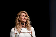 Laura Dern speaks onstage during MoMA's Twelfth Annual Film Benefit Presented By CHANEL Honoring Laura Dern on November 12, 2019 in New York City.