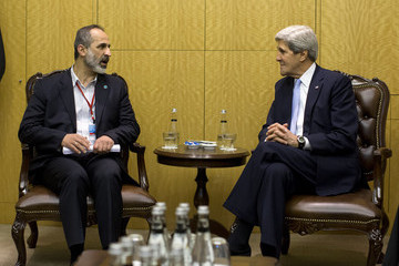 Moaz al-Khatib John Kerry Makes Visit To Turkey For Syria Meeting