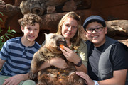 In this handout photo provided by WILD LIFE Sydney Zoo, actors Nolan Gould (L) and Rico Rodriguez (R) visit the Sydney Zoo during a trip to Australia on February 23, 2014 in Sydney, Australia.