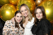 (L-R) Beanie Feldstein, Olivia Wilde and Kaitlyn Dever join Moet & Chandon at the HFPA and The Hollywood Reporter's Celebration of the 2020 Golden Globe Ambassadors at Catch on November 14, 2019 in West Hollywood, California.