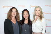 """(L-R) Kristi Jacobson, Ellen Latham, and Ali Larter attend """"Momentum Shift"""" Film Premiere Highlights Orangetheory's Inspiring, Female Founder Story And Other Tales Of The Power Of Community at Directors Guild Of America on October 21, 2019 in Los Angeles, California."""
