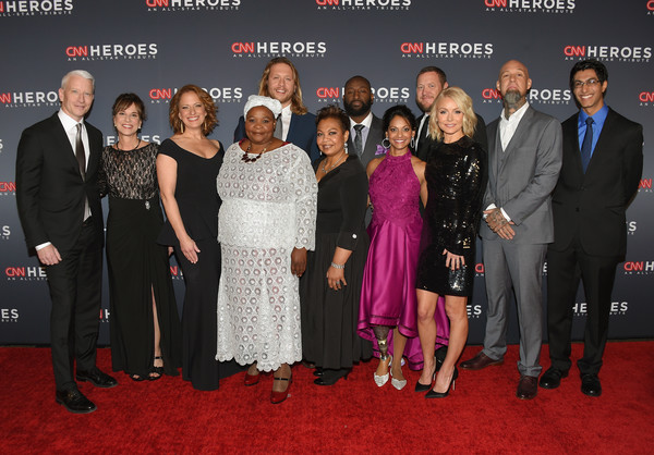 CNN Heroes 2017 - Red Carpet Arrivals [event,premiere,red carpet,carpet,flooring,red carpet arrivals,mona patel,anderson cooper,leslie morissette,khali sweeney,andrew manzi,amy wright,heroes,l-r,cnn]