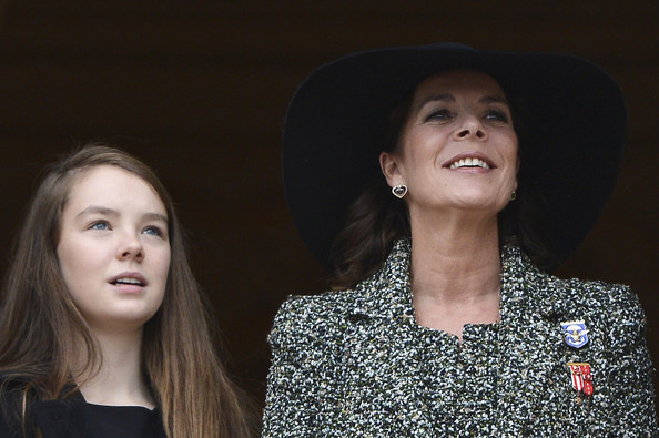 (L-R) Alexandra of Hanovre and Princess Caroline of Hanover attend the National Day Parade as part of Monaco National Day Celebrations at Monaco Palace on November 19, 2013 in Monte-Carlo, Monaco.