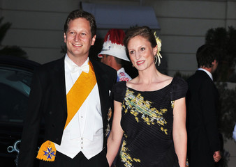 Princess Sophie Johanna Maria of Isenburg Prince Georg Friedrich of Prussia Monaco Royal Wedding - Dinner Arrivals and Fireworks