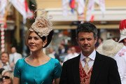 Crown Princess Mary of Denmark and husband Crown Prince Frederik of Denmark attend the religious ceremony of the Royal Wedding of Prince Albert II of Monaco to Princess Charlene of Monaco in the main courtyard at the Prince's Palace on July 2, 2011 in Monaco. The Roman-Catholic ceremony follows the civil wedding which was held in the Throne Room of the Prince's Palace of Monaco on July 1. With her marriage to the head of state of the Principality of Monaco, Charlene Wittstock has become Princess consort of Monaco and gains the title, Princess Charlene of Monaco. Celebrations including concerts and firework displays are being held across several days, attended by a guest list of global celebrities and heads of state.