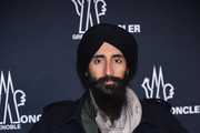 Designer and actor Waris Ahluwalia attends the Moncler Grenoble collection during, New York Fashion Week: The Shows on February 14, 2017 in New York City.