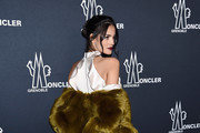 Sofia Resing poses backstage for the Moncler Grenoble collection during, New York Fashion Week: The Shows on February 14, 2017 in New York City.