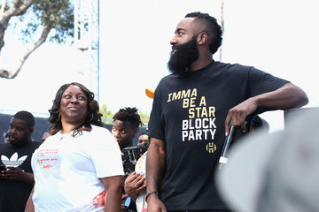 Monja Willis James Harden Returns To Audubon Middle School In Los Angeles For Imma Be A Star Block Party