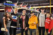 Madisyn Shipman, Carson Lueders, Hayden Summerall, Caden Conrique, Rush Holland and Dylan Conrique attend Monster Energy Supercross Celebrity Night at Angel Stadium on January 19, 2019 in Anaheim, California.
