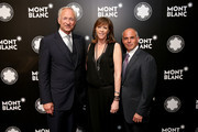 CEO of luxury brand Montblanc International, Lutz Bethge, Honoree Jane Rosenthal and Mike Giannattasio attend Montblanc honors Jane Rosenthal at 2014 Montblanc de la Culture Arts Patronage Award Ceremony on June 3, 2014 in New York City.