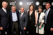 CEO of luxury brand Montblanc International, Lutz Bethge, Robert De Niro, Mike Giannattasio, Honoree Jane Rosenthal, Brooke Neidich and Joe Daniels attend Montblanc honors Jane Rosenthal at 2014 Montblanc de la Culture Arts Patronage Award Ceremony on June 3, 2014 in New York City.