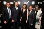 (L-R) Joe Daniels, CEO of luxury brand Montblanc International, Lutz Bethge, Honoree Jane Rosenthal, Mike Giannattasio and Brooke Neidich attend Montblanc honors Jane Rosenthal at 2014 Montblanc de la Culture Arts Patronage Award Ceremony on June 3, 2014 in New York City.