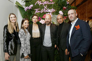 (L-R) Webster Global Director,  Brand Relations Stephanie Radl, Webster Founder & Creative Director Laure Hériard Dubreuil, Maggie Gyllenhaal, Peter Sarsgaard, Montblanc Creative Director Zaim Kamal, and Montblanc Vice President of Marketing Florent-Aymeric Dubiez attend the Montblanc x The Webster Collaboration Launch Event at The Webster on November 05, 2019 in New York City.