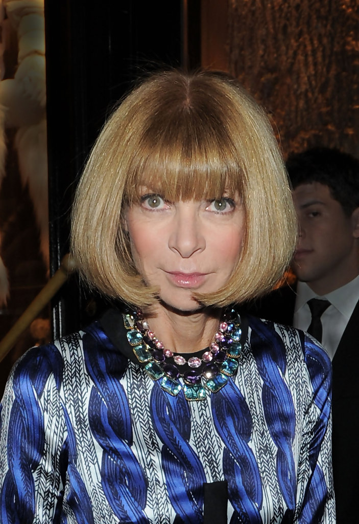 Anna Wintour Banned Ariana Grande From Wearing Ponytail: Anna Wintour In Montcler And Vogue Cocktail Party