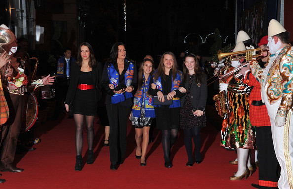 In this handout image provided by the Monaco Centre de Presse, Pauline Ducruet (L), Princess Stephanie of Monaco (2nd,L), Camille Gottlieb (2nd, R) and Princess Alexandra of Hanover (R) attend the 36th Monte-Carlo International Circus Festival on January 20, 2012 in Monte-Carlo, Monaco.