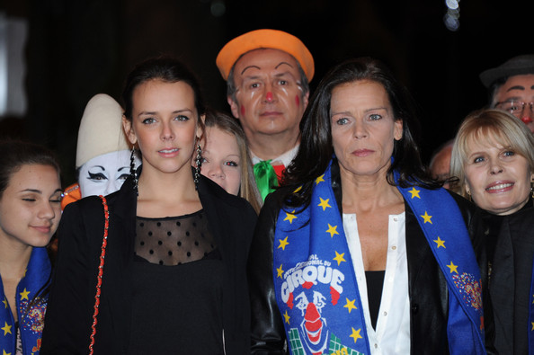 In this handout image provided by the Monaco Palace, Pauline Ducruet and Princess Stephanie of Monaco attend the 36th Monte-Carlo International Circus Festival on January 21, 2012 in Monte-Carlo, Monaco.