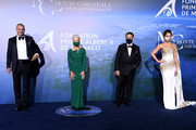 (L to R) Milutin Gatsby, Helen Mirren, Andy Garcia and Kate Beckinsale attend the Monte-Carlo Gala For Planetary Health on September 24, 2020 in Monte-Carlo, Monaco.