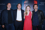 John Hillcoat, Jonathan Sadlowe; Rachel Sadlowe, and Demian Bichir attend CORAZON, Tribeca Film Festival Public Screening and Red Carpet Event presented by Montefiore on April 22, 2018 in New York City.