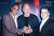 Dr. Daniel Goldstein, Director John Hillcoat, and Jeffrey Short attend CORAZON, Tribeca Film Festival public screening and red carpet event presented by Montefiore on April 22, 2018 in New York City.
