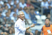Roberto Hernandez, coach of Morelia, gives instructions during the 7th round match between Monterrey and Morelia as part of the Torneo Apertura 2018 Liga MX at BBVA Bancomer Stadium on August 25, 2018 in Monterrey, Mexico.