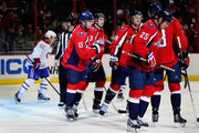 Joey Crabb #15 of the Washington Capitals celebrates after scoring a third period goal against the Montreal Canadiens at Verizon Center on January 24, 2013 in Washington, DC.