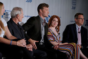 NCAA Athlete Lauren Cox, Actors Victor Garber, Derek Theler and Jennifer Stone, and JDRF President and CEO Aaron Kowalski participate in a panel during the JDRF 2019 Children's Congress on July 09, 2019 in Washington, DC.