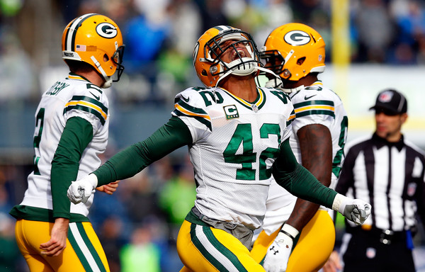 Morgan Burnett Morgan Burnett  42 of the Green Bay Packers celebrates    Morgan Burnett