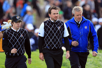 Rory McIlroy Graeme McDowell Morning Fourball Matches-2010 Ryder Cup