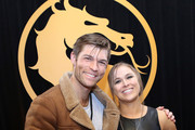 Liam McIntyre (L) and Ronda Rousey attend Mortal Kombat 11: The Reveal on January 17, 2019 in Los Angeles, California.