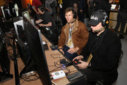 Liam McIntyre (L) attends Mortal Kombat 11: The Reveal on January 17, 2019 in Los Angeles, California.